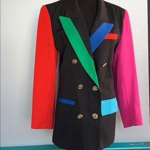 Awesome 80s color block blazer.
